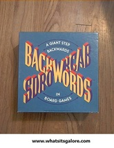 BACKWORDS party game/boardgame - $8.00