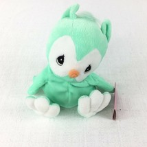 Precious Moments Tender Tails Owl Green Plush 1998 with Original Tag - $12.86