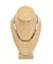 "BRIGHTON 18"" Silver Necklace With Scroll Design - Vintage - $38.95"