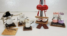 Smores Christmas Ornaments Lot of 5 Midwest Cannon Falls  - $19.99