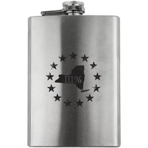 Original New York State III Percenter Stainless Steel 8oz. Flask - $19.99