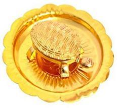 New Golden Kachua Yantra Tortoise/ Turtle Showpiece Decorative Showpiece - $23.99