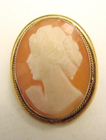 SMALL VERMEIL CAMEO PIN