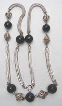 ONYX & STERLING NECKLACE - $100.00