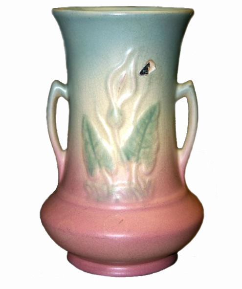 Hull Art Pottery Calla Lily Vase 520-33 8 inch c1938
