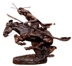 "53""H Cheyenne Lost Wax Bronze Collectible Sculpture Statue by Remington  - $4,710.00"