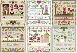 FULL BUNDLE Little Women Virtues (6 charts) Thread Packs LHN- Classic Co... - $71.40