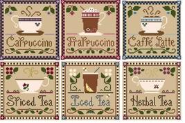 FULL BUNDLE Coffee & Tea (6 charts) Silk Thread Packs LHN - Classic Colo... - $71.40