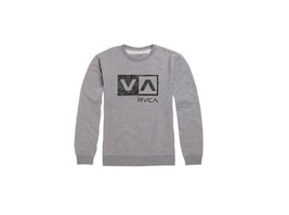 MEN'S GUYS RVCA BALANCE OF OPPOSITES BOX CAMO CREW FLEECE SWEATSHIRT GR... - $42.99