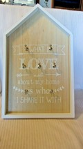 What I Love About My Home Is Who I Share It With Wooden Key Rack, Wall M... - $44.55