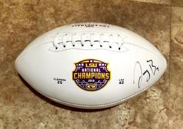 Joe Burrow Autographed Signed Lsu Tigers National Champions Logo Football w/COA - $299.99