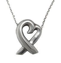 "Authentic Tiffany & Co. Sterling Paloma Picasso Loving Heart 16.75"" Necklace - $69.95"