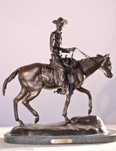 "21.5""H ""Will Rogers"" Collectible Solid Bronze Sculpture Statue By C. M. ... - $1,295.00"
