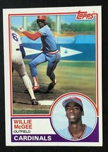 1983 Topps #49 Willie McGee Rookie Card   Cardinals - $1.49