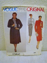 Vogue Paris Original Pattern #2382 - Coat, Skirt, Blouse - Size 12, Uncut - $14.95