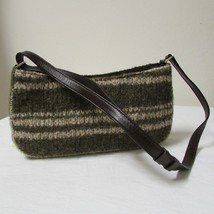 Kenneth Cole Knit Tweed Green and Cream Shoulde... - $33.00