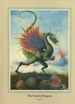 "Una Woodruff. ""The Eastern Dragons"", of China. 1979 Fantasy Print. - $10.00"