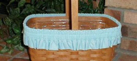 Longaberger Easter Basket Garter Only Robbins Egg Blue Large New In Bag - $11.83