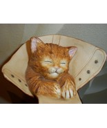 "Puss in Boots Sculpture ""Caught Napping"" Hamilton Collection1992 Kitten ... - $11.99"