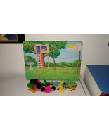 Flannel scenery board + Flannel pieces: Animals, House, Shapes, Transpor... - $11.88