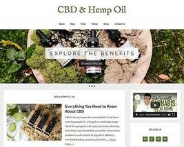 [NEW DESIGN] * Benefits of Hemp Oil Website * affiliate product blog AUT... - $90.70