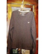 Shirt American Eagle Outfitters Black Knit Long Sleeve Polo Mens Large  - $17.00