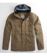 MEN'S GUYS MATIX GEISSLER TAN HOODED MILITARY HEAVY JACKET NEW $110 WINT... - $69.99