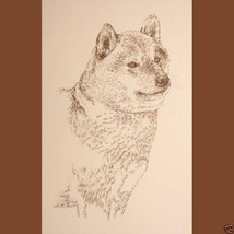 Shiba Inu Dog Breed Art Portrait #236 WORD DRAWING Kline will add dogs n... - $60.00