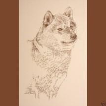Shiba Inu Dog Breed Art Portrait #236 WORD DRAW... - $60.00