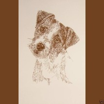 JACK RUSSELL TERRIER DOG ART PORTRAIT PRINT #23... - $60.00