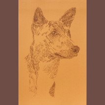 Basenji Dog Art Signed Print Lithograph #56 Kli... - $60.00