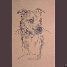 AMERICAN PIT BULL TERRIER DOG ART #46 Stephen K... - $60.00