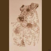 Irish Terrier Dog Art Portrait Print #236 Kline... - $60.00
