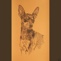 Miniature Pinscher Dog Art Print #235 WORD DRAWING Kline adds dogs name ... - $60.00