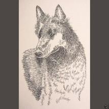 Belgian Sheepdog Art Portrait Print 40 Kline adds dog name free DRAWN FR... - $60.00