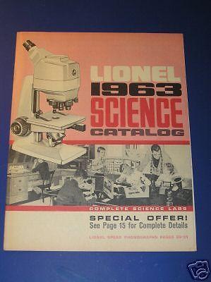 1963 LIONEL SCIENCE  CATALOG
