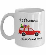 At Christmas All Roads Lead Home Mug Red Truck Coffee Cup for Son-in-law... - $14.80