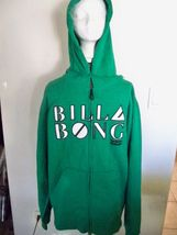 MEN'S BILLABONG ZIP-UP HOODIE GREEN W/ WHITE AND BLACK LOGO ON CHEST NEW... - $39.99