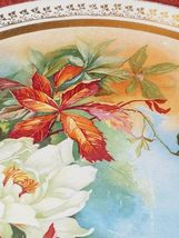 """DRESDEN CHINA LARGE PLATE ROSES GOLD TRIM Large 13"""" Plate by Dresden image 5"""