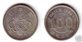 JAPAN 1964 100yen Comm Coin Celebrating Summer Olympics - £7.94 GBP