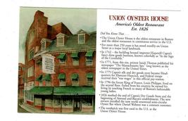 Union Oyster House , Boston Mass. -Post Card - $1.95