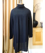 KAROO Mark Eisen Dress Cashmere Black Turtleneck Full Lightweight 3 - $128.65