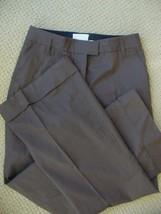 Phillip Lim 3.1 Dress Pants Brown Cotton Wide Leg Cuffed 6 - $1.677,74 MXN