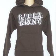 GUYS MEN'S BILLABONG HOODIE BROWN BILLABONG LOGO PRINT ACROSS CHEST NEW $60 - $36.99