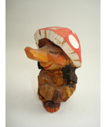 hand carved tiny wooden  troll figure-possible Anri - $80.00