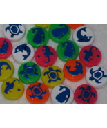 20 - 13mm Marine Picture Plastic Coin Beads - $1.35