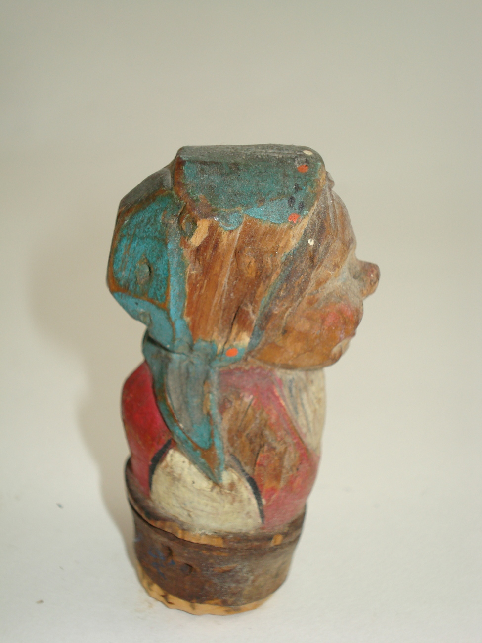 hand carved wooden old woman- possible Anri