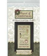Spirit of Christmas Mystery Sampler Part 3 cross stitch chart Lizzie Kate - $8.10