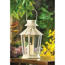 10 Large Ivory Candle Lantern Wedding Centerpieces - $166.32