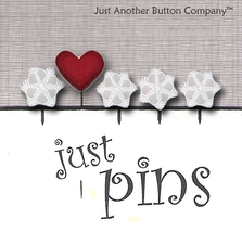 Let It Snow Just Pins JP160 set 5 for pincushions JABC Just Another Butt... - $13.05